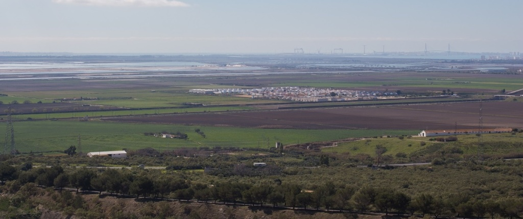 Vista de la Bahía de Cádiz desde la Sierra San Cristóbal